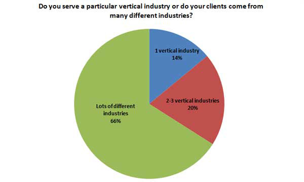 Only a few SEO agencies serve a particular vertical industry