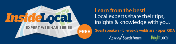 InsideLocal Webinar - Expert Local Search Webinar Series