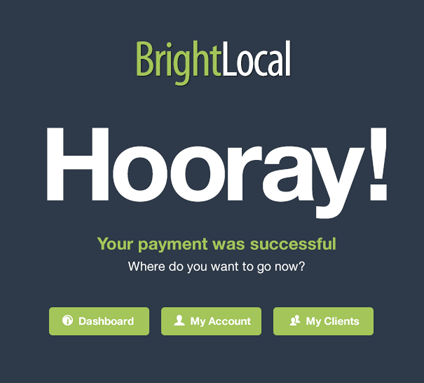 Payment Success Page Design