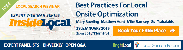 InsideLocal Webinar: Best Practices for Local Onsite Optimization