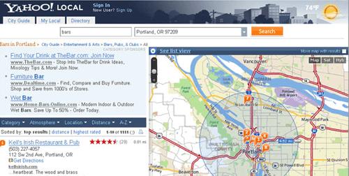 Yahoo Maps - wapletter on