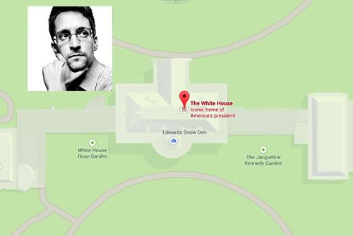 Edward Snowden in the White House