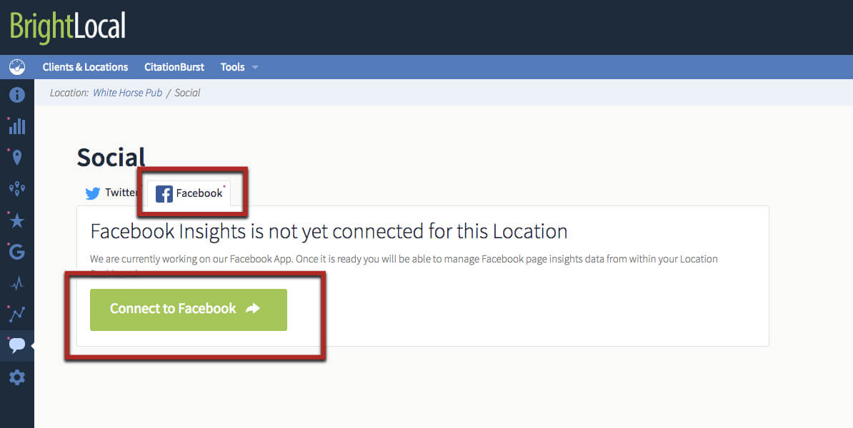 Monitor Facebook with BrightLocal