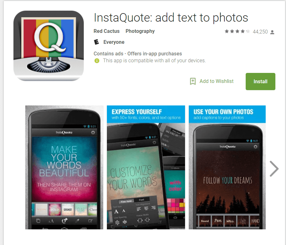 Instaquote makes great images from your phone