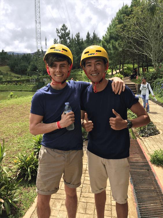 Matt & Neil on a recent team outing to Dahilayan Forest Park