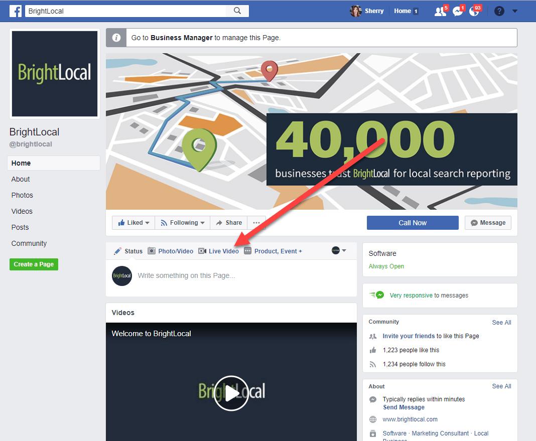 Start Facebook Live