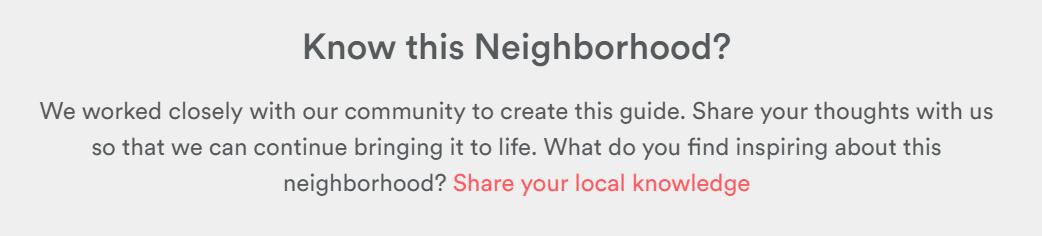 Airbnb Know this Neighborhood