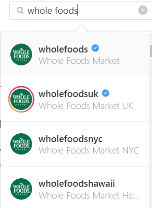 Whole Foods Instagram