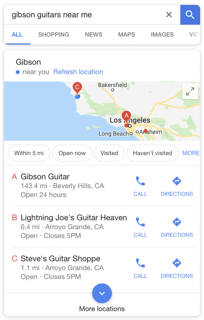 Gibson Guitars Branded Searches
