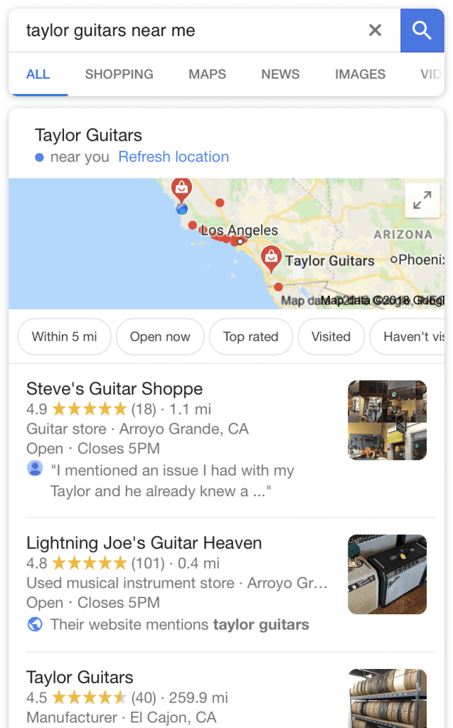 Taylor Guitars Branded Searches