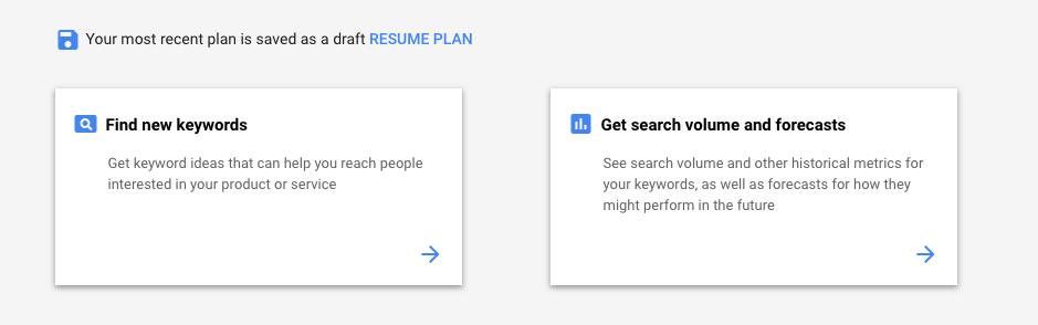 Find New Keywords Google Ads