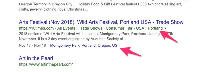 Arts Festival search