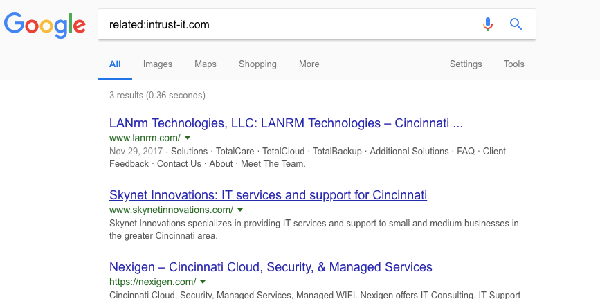 google related sites search